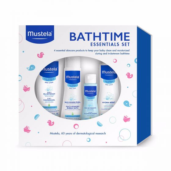 Mustela Baby Bathtime Essentials Gift Set, 4 Skin Care Items by Mustela
