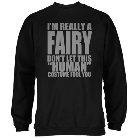 Halloween Human Fairy Costume Black Adult Sweatshirt - Trixie The Halloween Fairy