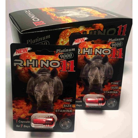 Rhino Soft Top - Rhino 11 Platinum 9000 Male Sexual Performance Enhancer (Pack of 1)