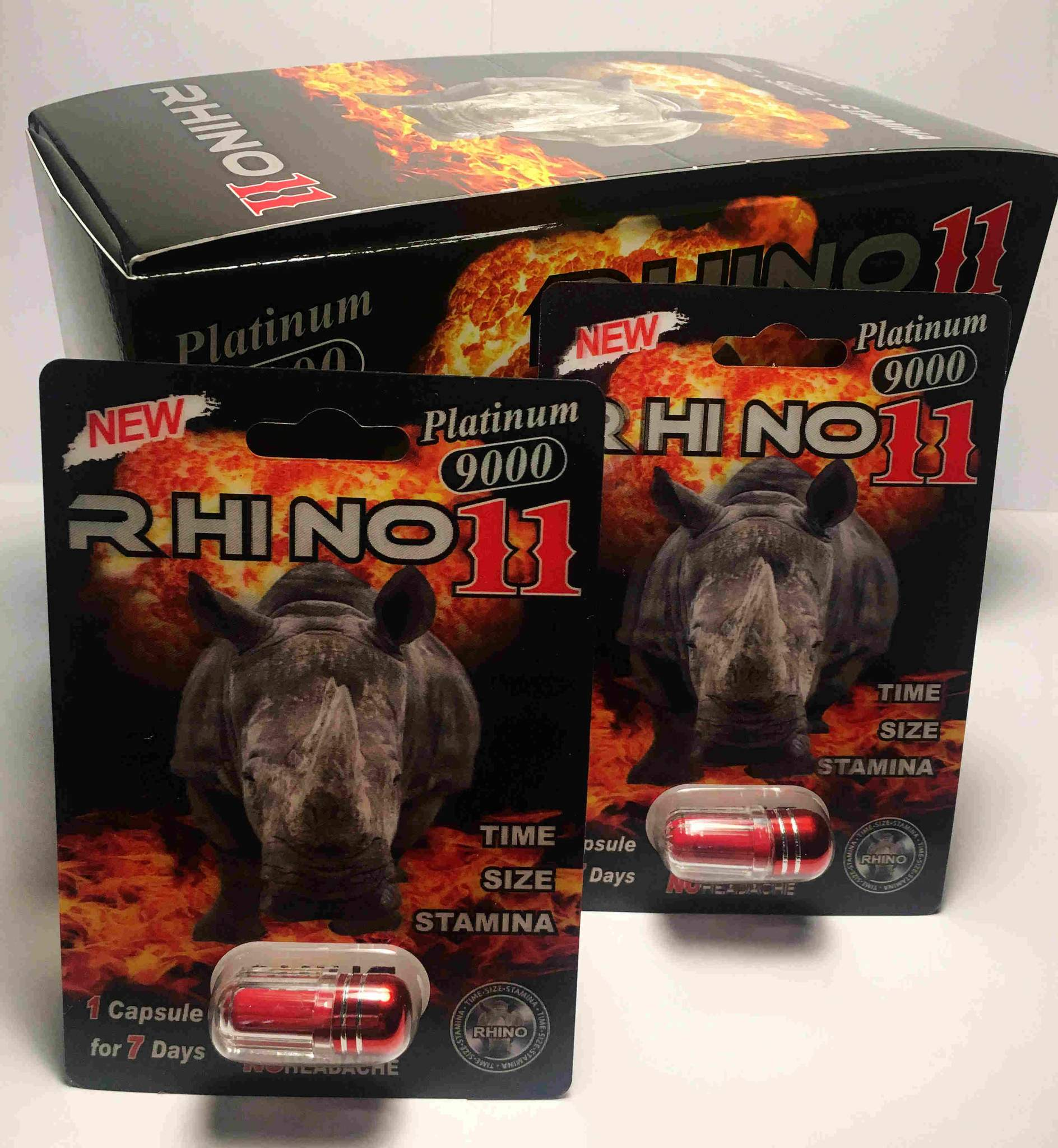 Rhino 11 Platinum 9000 Male Sexual Performance Enhancer (Pack of 1)