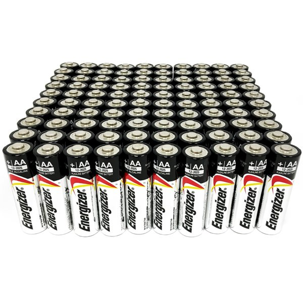 Energizer Max Alkaline AA Battery E91 1.5V - 100 Pack + FREE SHIPPING!