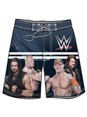 WWE Big Boys John Cena Roman Reigns Swim Trunks Swimwear - Black