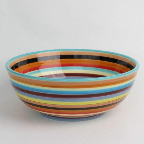 Two and a Half Men Charlie Serving Bowl 11 Inch Sedona Stripe