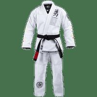 Hayabusa Goorudo 3 Gold Weave Jiu Jitsu Gi, White A0