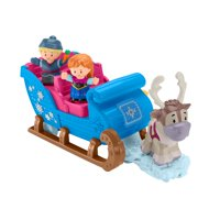 Fisher-Price Little People Disney Frozen Kristoff's Sleigh Ride with Anna & Sven