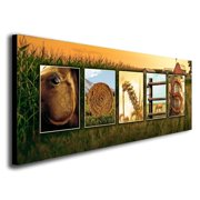 Personalized Country Western Horse Name Wall Canvas Art