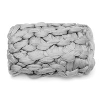 """47""""x59"""" Soft & Warm Hand Chunky Knit Blanket Thick Yarn Bulky Bed Sofa Spread Throw for Home Office Travel"""