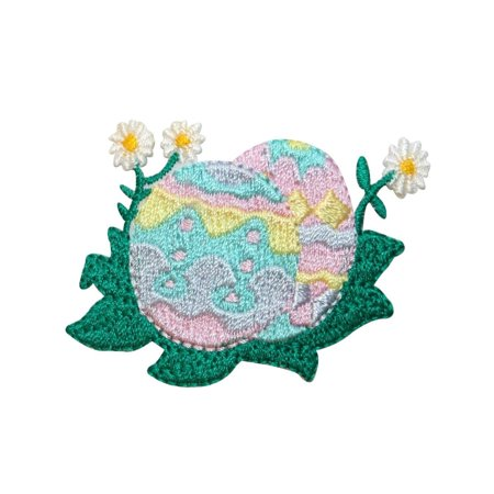 ID 3337 Decorated Easter Eggs Patch Spring Holiday Embroidered Iron On Applique