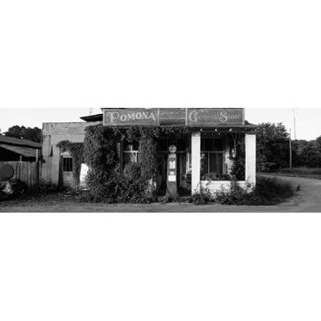 Pomona Storage (General Store Pomona Illinois USA Stretched Canvas - Panoramic Images (36 x 12) )