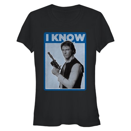 Han Solo Shirt (Star Wars Juniors' Han Solo Quote I Know)