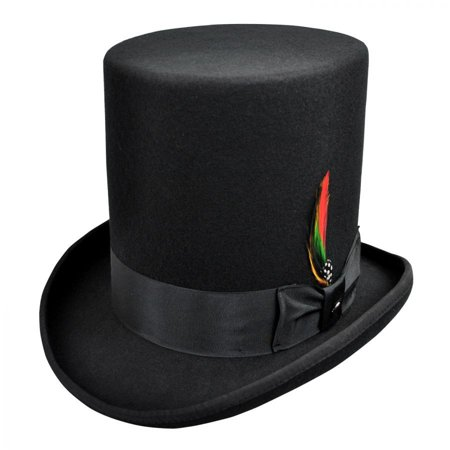 Stovepipe Wool Felt Top Hat - XL - Black