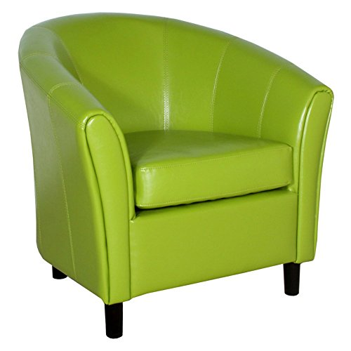 Napoli Lime Green Leather Chair