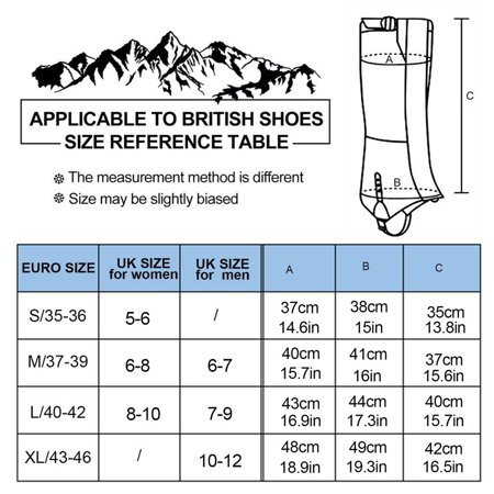 1 Pair OUTAD Waterproof Snow Legging Gaiters Cover for Outdoor Hiking Hunting - image 2 of 8