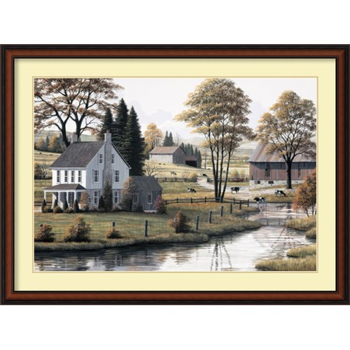 Amanti Art 'Autumn Grazing' by Bill Saunders Framed Painting Print by Amanti Art