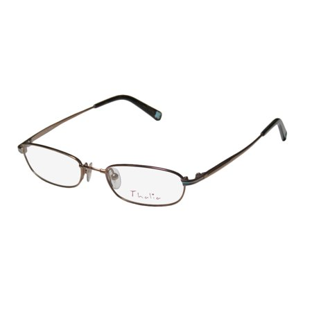 New Thalia Telma Womens/Ladies Designer Full-Rim Shiny Brown Flexible Hinges Cute Run Small Frame Demo Lenses 45-16-130 Eyeglasses/Eye Glasses
