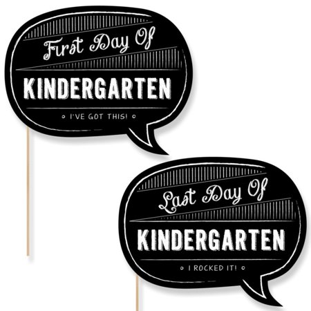Kindergarten - First Day & Last Day of School Photo Props - Back To School - 2 Talk Bubbles (Diy Photo Props)