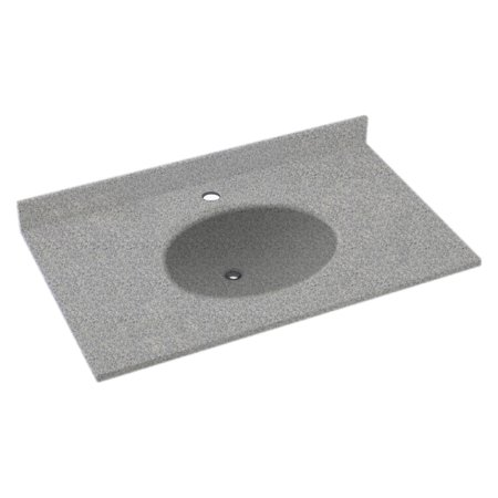 Swanstone 61W x 22D in. Ellipse Solid Surface Vanity (Sand Swanstone Vanity Top)