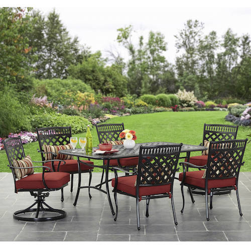 Better Homes And Gardens Dawn Hill 7 Piece Aluminum Dining Set