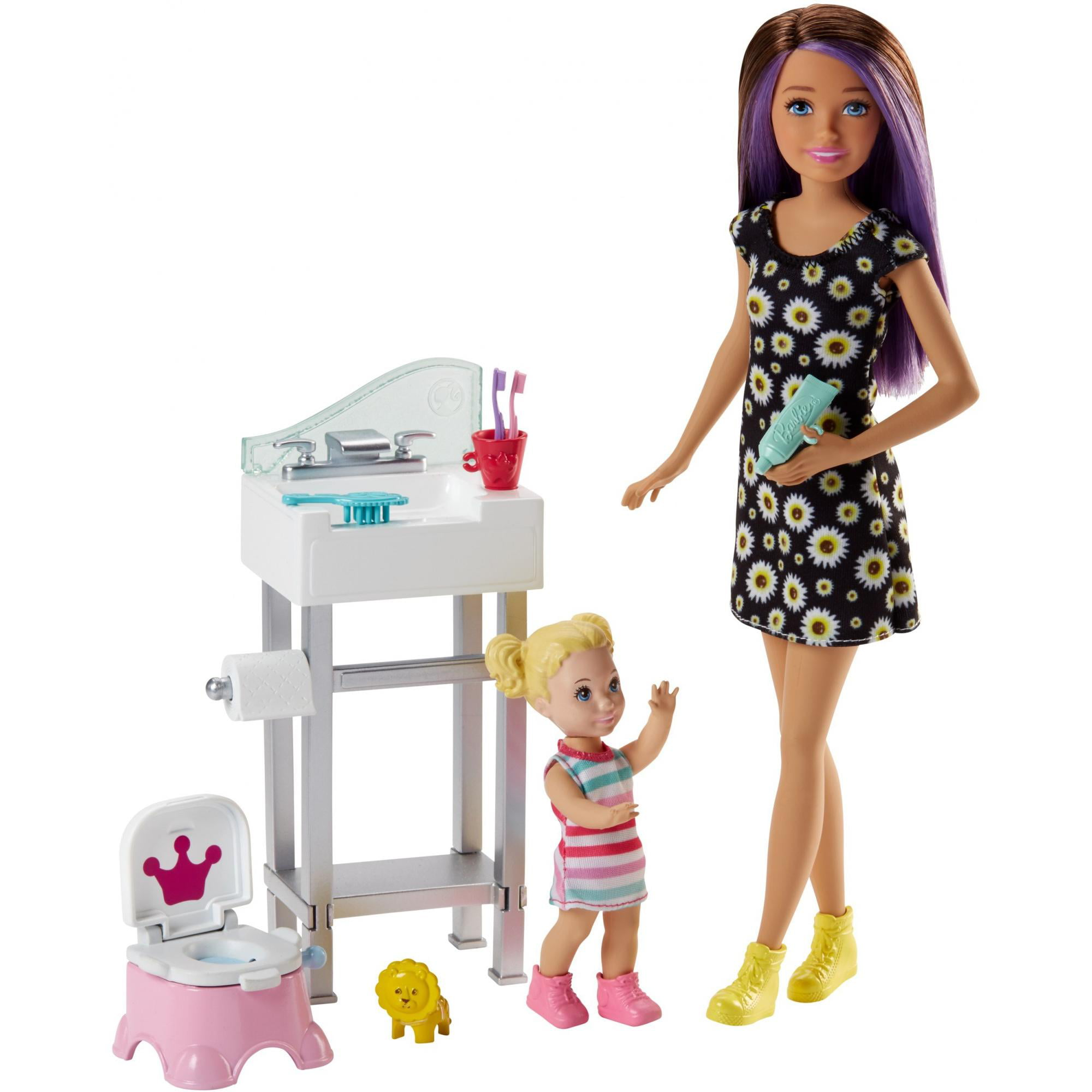 Barbie Skipper Babysitters Inc. Potty Training Doll and Playset
