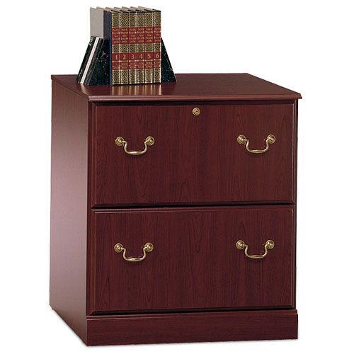 Bush Saratoga 2-Drawer Lateral File Cabinet, Harvest Cherry