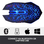 Freedo 2. 4GHz Wireless  Noiseless Mouse, Gaming Mouse  Rechargeable For for Laptop and Computer,Colorful LED Lights BLUE - image 5 of 8