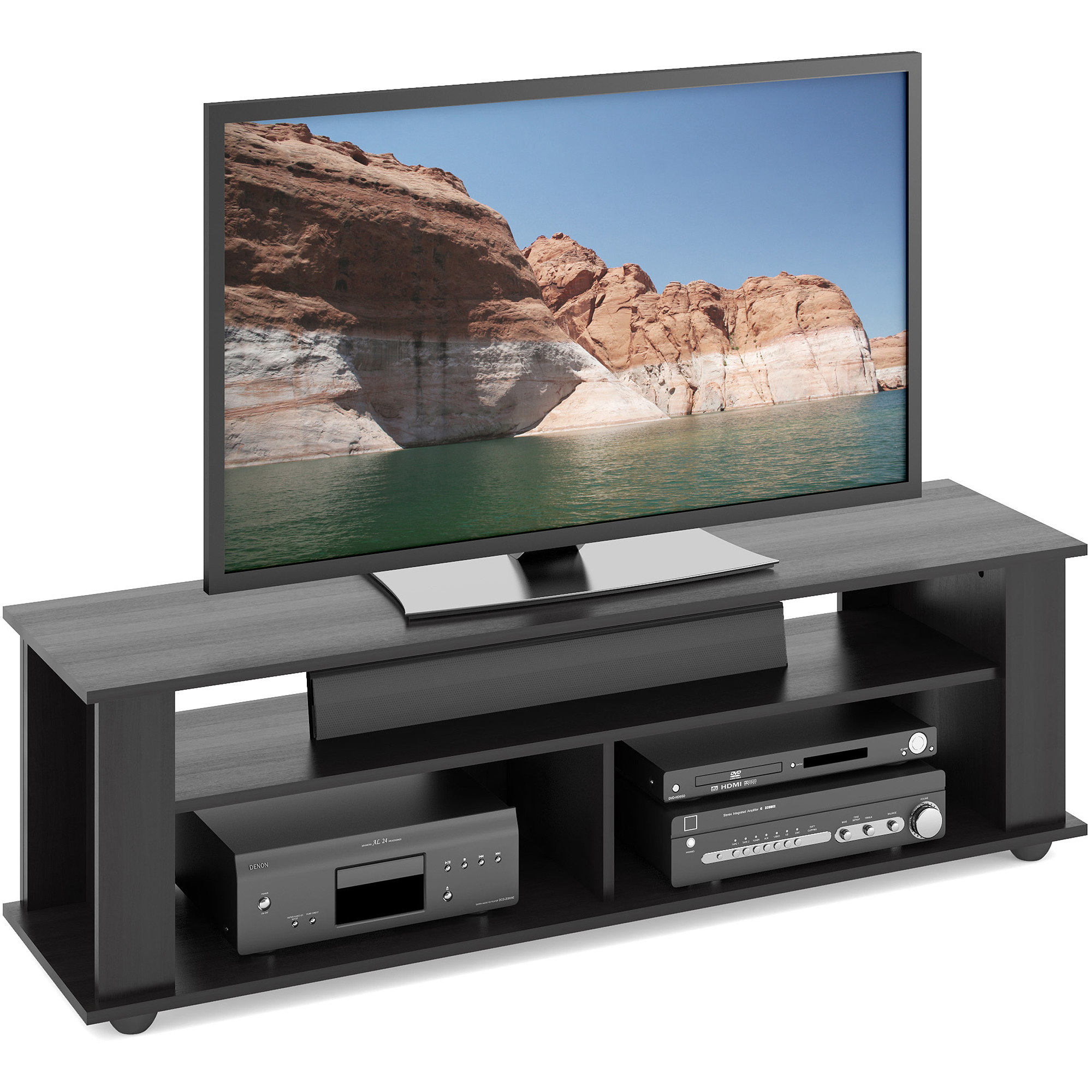CorLiving Bakersfield Ravenwood Black TV Stand for TVs up to 65""