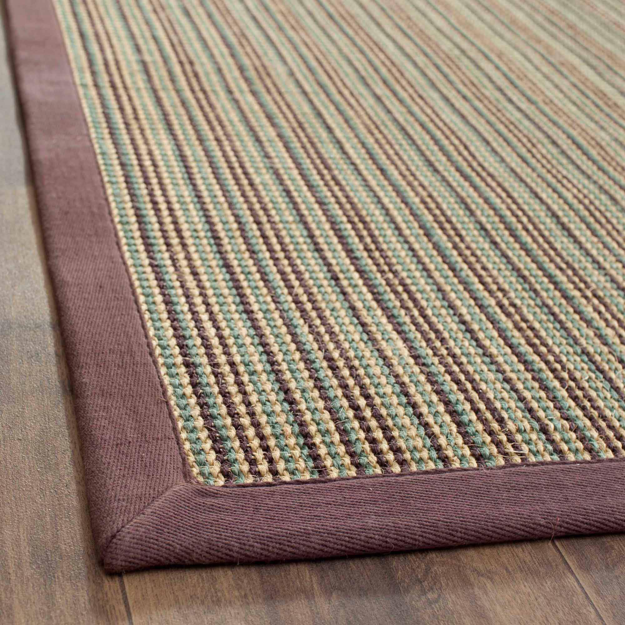 Safavieh Natural Fiber Rectangular Area Rug, Blue and Purple