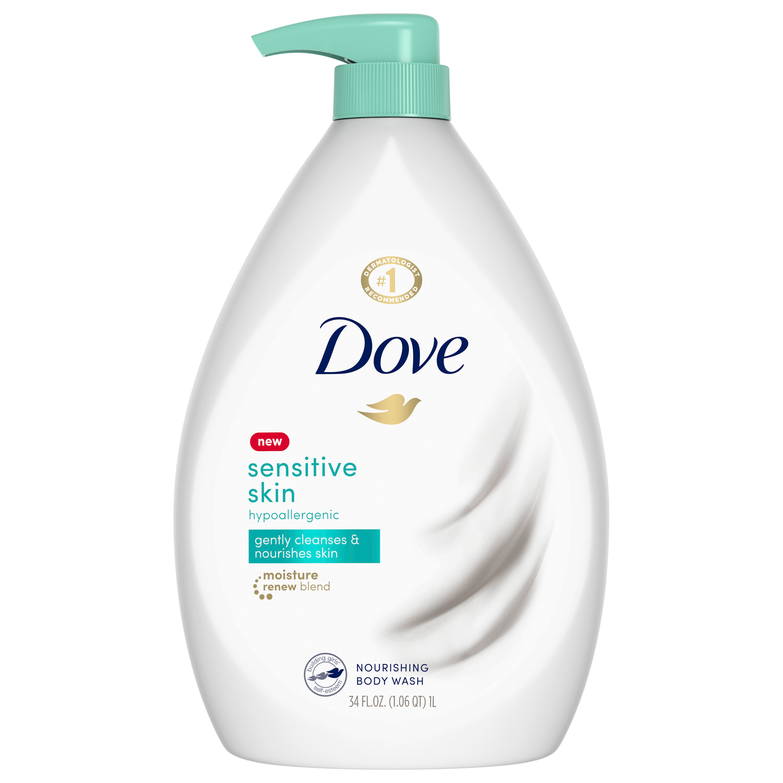 6 Packs Dove Sensitive Skin Uncented Beauty Body Wash 12 Oz Walmart Com