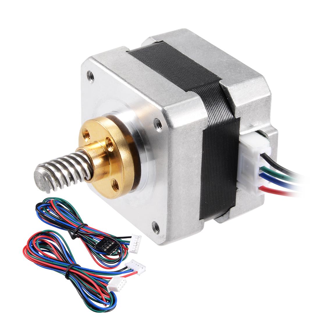 Unique Bargains Stepper Motor 42 Bipolar 25mm 0.56NM 1.5A 2.5V 4 Lead Cable for 3D Printer - image 1 de 7