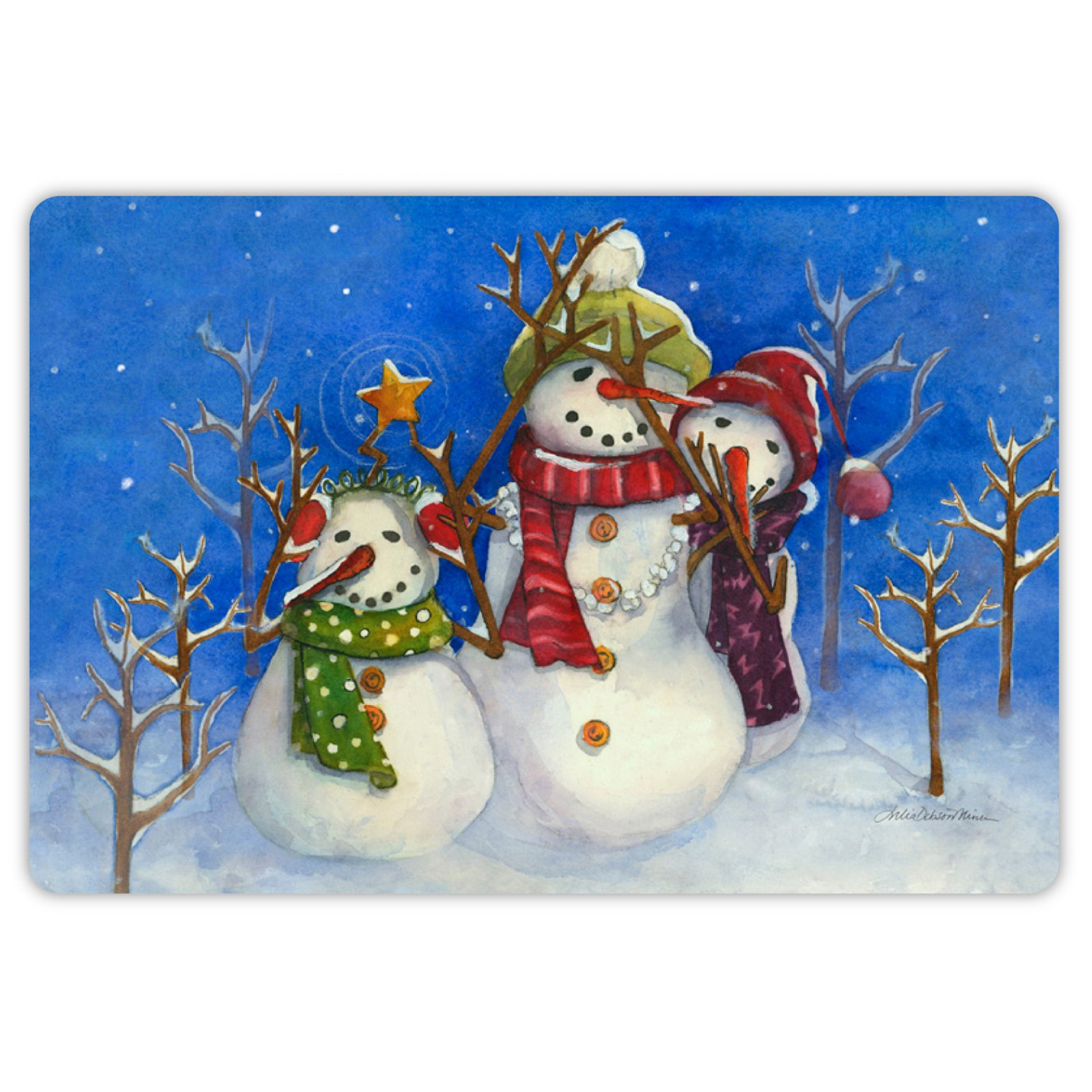 Drymate Winter Collection Welcome Mat - Snow Family
