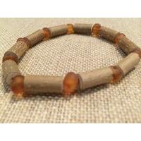 "8"" Hazelwood (For Heart burn, acid reflux, Eczema) Raw Honey Baltic Amber Bracelet for Adult, teenager"