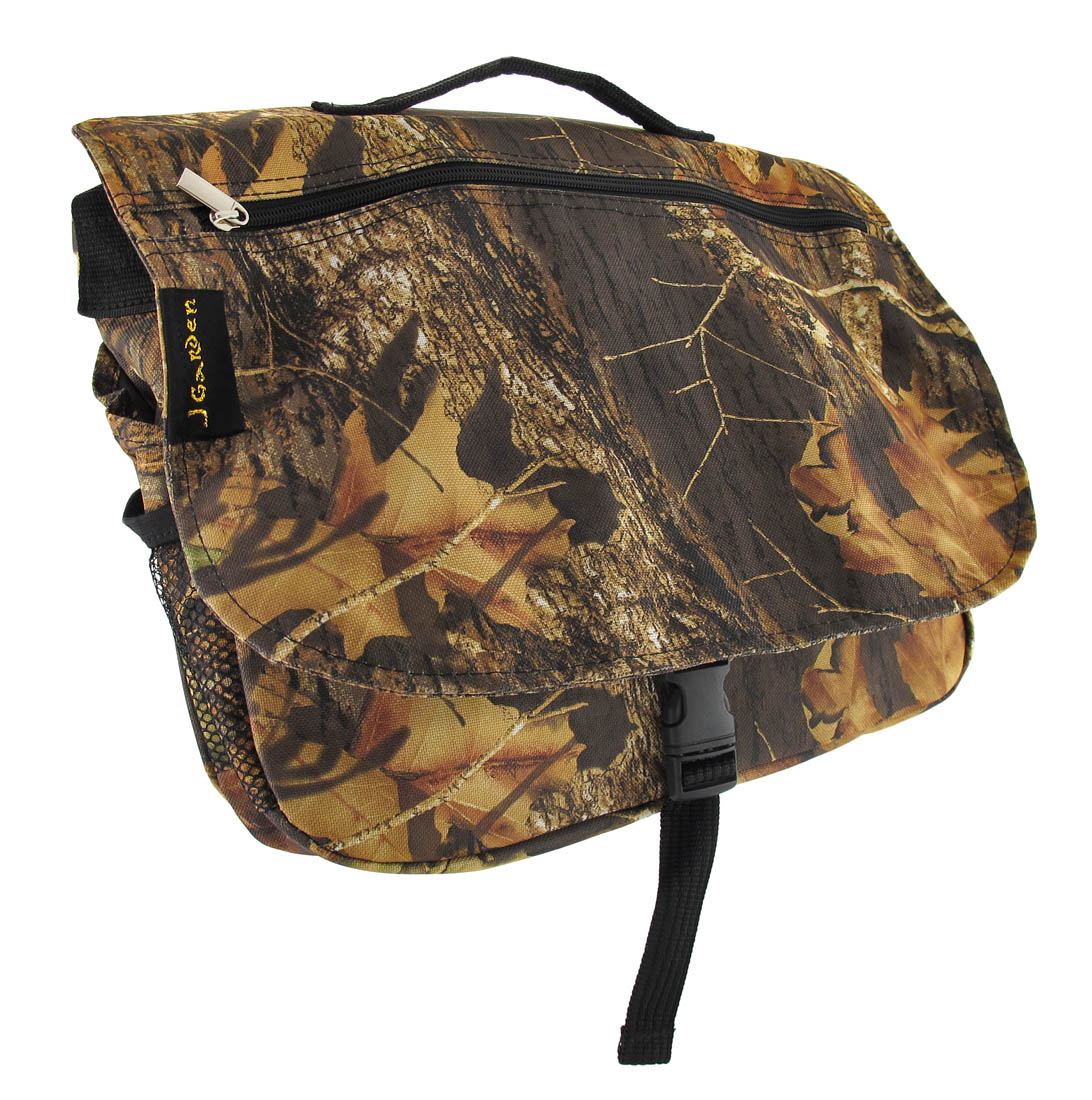 Forest Camouflage Messenger Bag with Black Trim