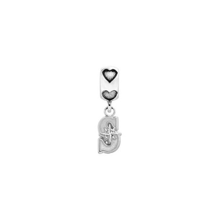 LogoArt MRN005BD2-SS 0.37 in. Sterling Silver Seattle S Mariners on Heart Bead - image 1 of 1