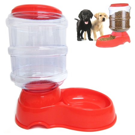 3 5l Automatic Pet Feeder Food Dish Bowl Cat Dog Dispenser