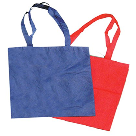 2 Handle Bag (Long Handled Reusable Tote Bags With Color Variety : ( Pack of 2 Bags ) )