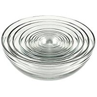 10-Piece Anchor Hocking Tempered Glass Assorted Dishwasher Safe Mixing Bowl