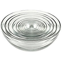 Anchor Hocking Tempered Glass Assorted Dishwasher Safe Mixing Bowl, 10