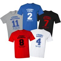 Personalized His Team T-shirt, Available in 5 Colors