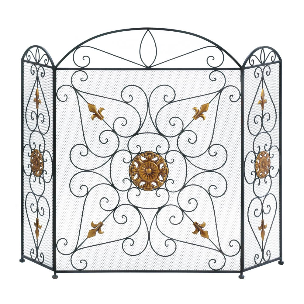 Replacement Fireplace Screen Decorative Fireplace Screens Three
