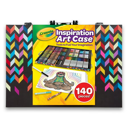 Crayola Assorted Zigzag Inspiration Art Case, 140 Piece, Art Set for Kids