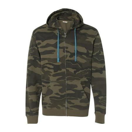Burnside B8615 Camo Full-Zip Hooded Sweatshirt