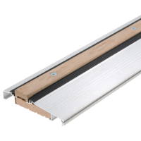 """CRL 1006A73 Aluminum 73"""" Outswing Adjustable Oak Top Threshold"""
