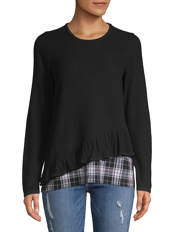 Ruffled-Hem Sweater