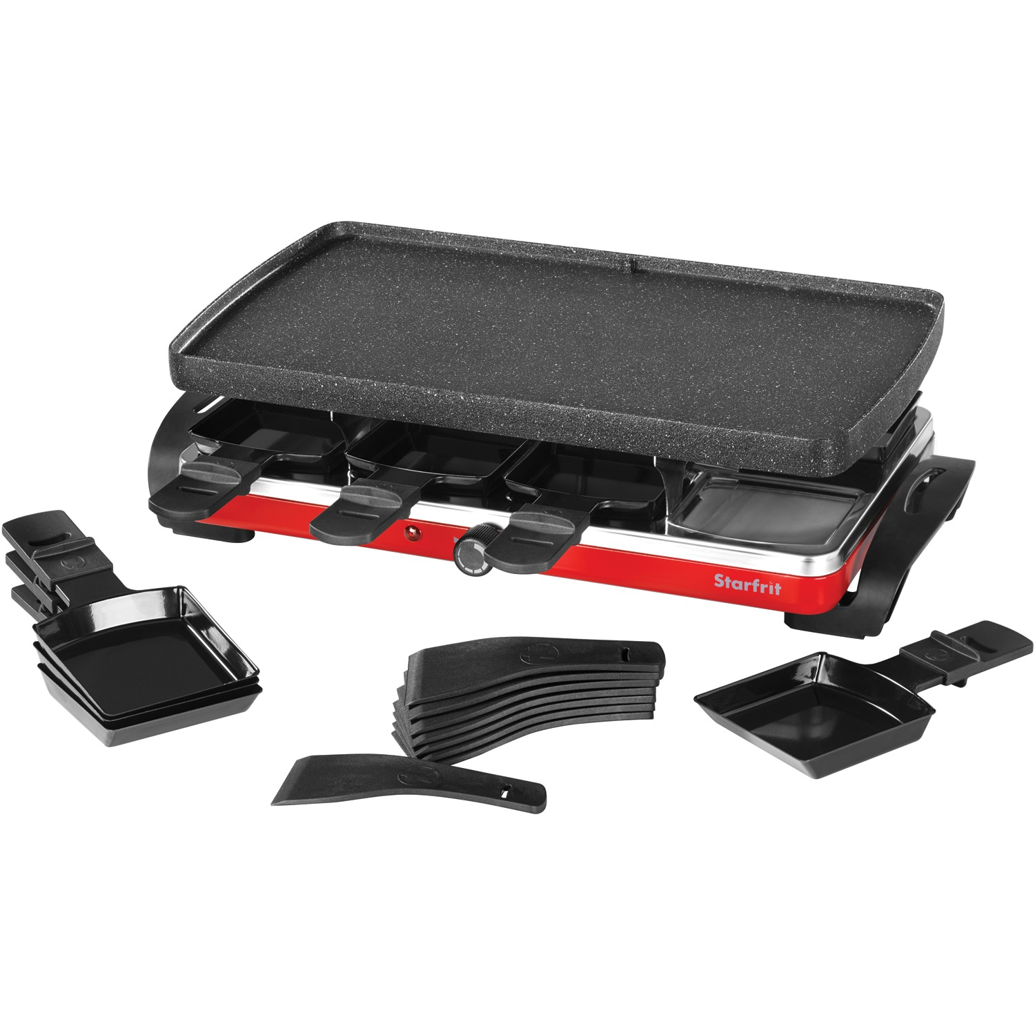 The Rock By Starfrit 024403-002-0000 The Rock Raclette/Party Grill Set