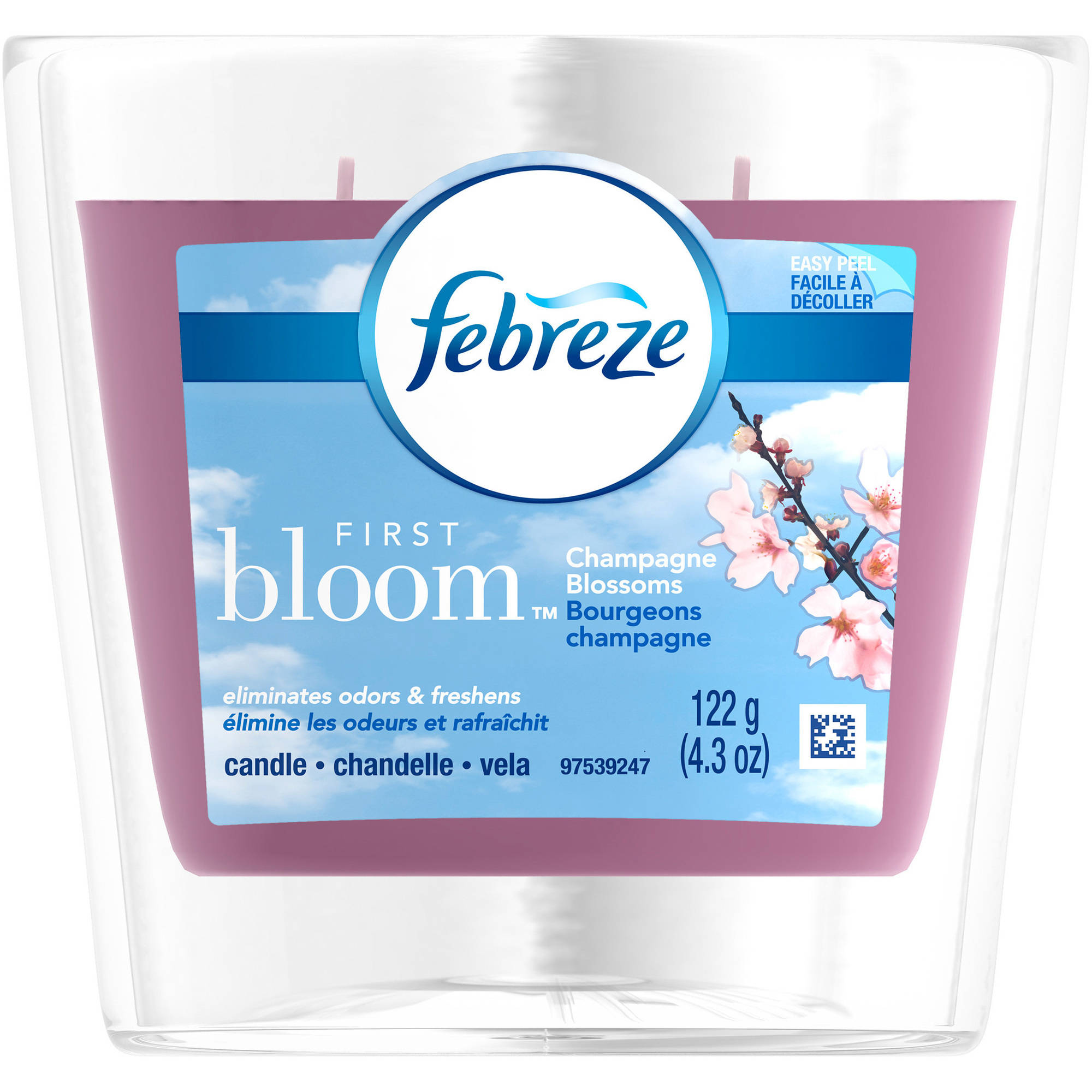 Febreze First Bloom Champagne Blossoms Air Freshener Candle, 4.3 oz