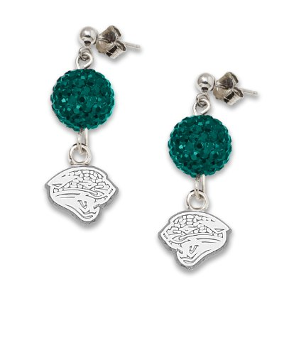 Jacksonville Jaguars S/S JACKSONVILLE JAGUARS CRYSTAL OVATION EARRINGS