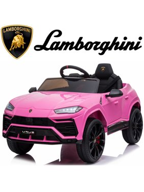 Lamborghini Power 4 Wheels Car, Licensed Lamborghini Ride on Cars with Remote Control, 3 Speeds, Battery Powered, LED Lights, Music, Horn, Electric Vehicles Ride on Toy for Girls Boys, Pink, W14932
