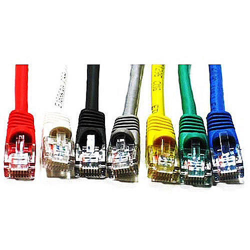 Link Depot 1' Ethernet Enhanced CAT6 Networking Cable, Assorted Colors
