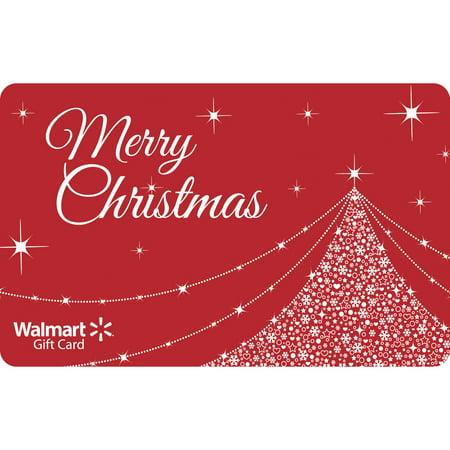 Red Merry Christmas Walmart Gift Card - Walmart.com