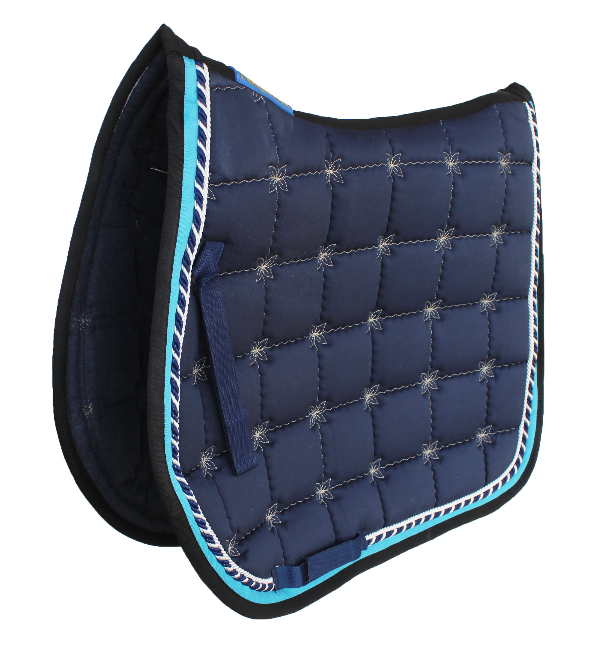 Horse English Western SADDLE  Trail Quilted Half Pad Fur Lining Navy 12218NV
